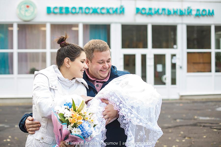 Фотограф на выписку из роддома в Санкт-Петербурге