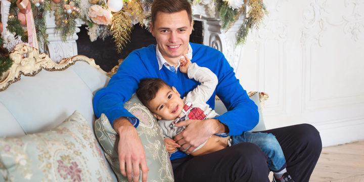 Новогодняя семейная фотосессия на Васильевском острове