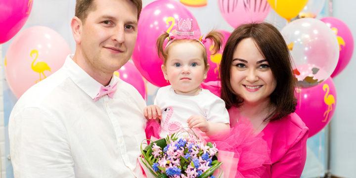 День рождения в цвете Фламинго